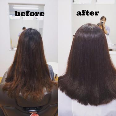 広がる髪やくせ毛は、カットと髪質改善で髪にツヤも 2
