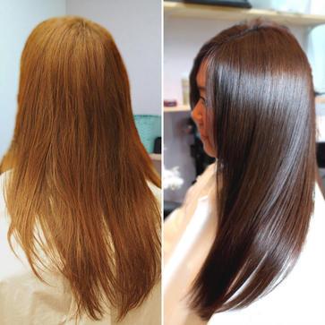 広がる髪やくせ毛は、カットと髪質改善で髪にツヤも 1
