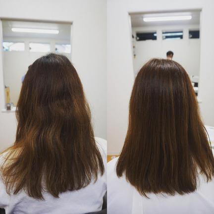 部分染め/ハイライトの恐怖から髪質改善 1