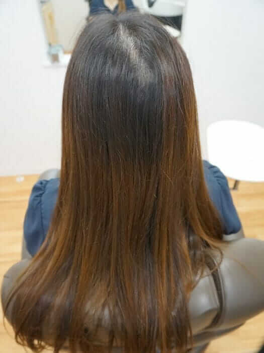 施術前の髪